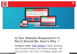 Importance of responsive website designing