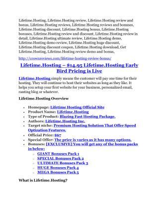 Lifetime.Hosting Review-$32,400 bonus & discount