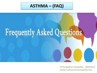 Homeopathy for child asthma