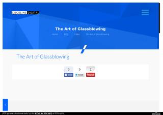 The Art of Glassblowing | Cocklins Digital Video production