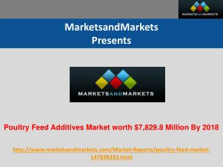Poultry Feed Additives Market worth $7,829.8 Million By 2018
