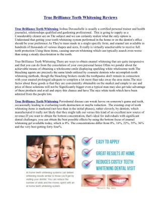 True Brilliance Teeth Whitening