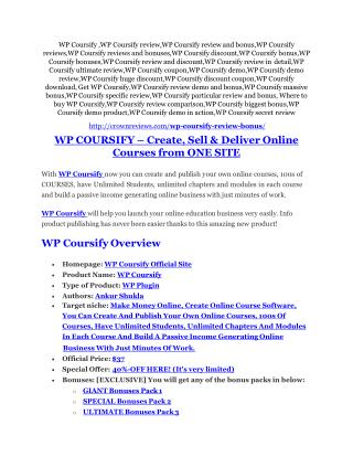 WP Coursify review & bonus - I was Shocked!