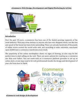 eCommarce Web Design, Development and Digital Marketing by IoVista