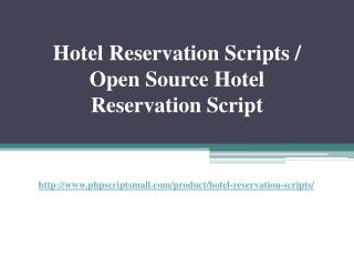 Hotel Reservation Scripts / Open Source Hotel Reservation Script