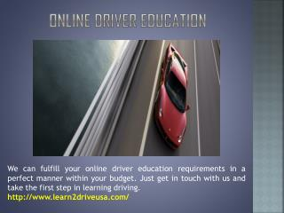 Online Driver ED