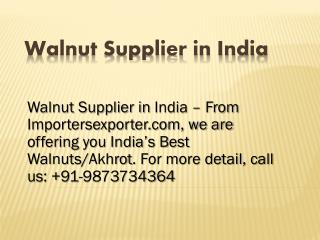 Imported Walnut Suppliers