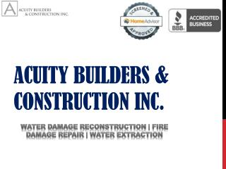 Affordable and effective water damage restoration services at Acuity Builders
