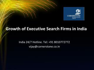 Growth of Executive Search Firms in India