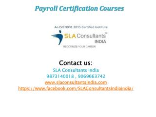 payroll certification courses