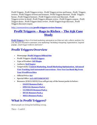 Profit Triggers review & Profit Triggers (Free) $26,700 bonuses