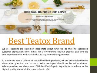 Which Teatox Is The Best