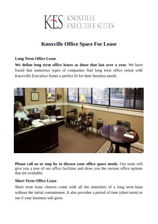 Short Term Office Space Rental