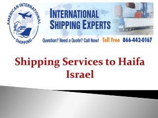 Shipping Services to Haifa Israel