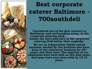 Best Box Lunch Catering in Baltimore