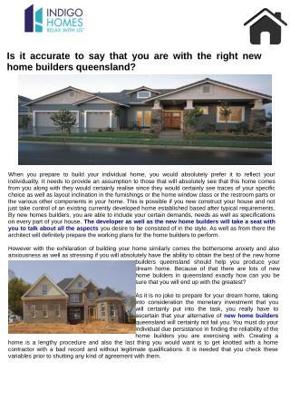 Alternative of new home builders queensland