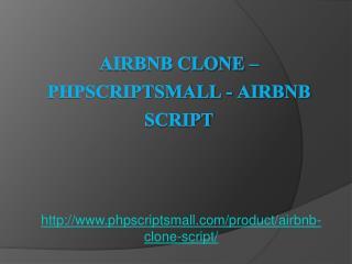 Airbnb Clone – PHPSCRIPTSMALL - Airbnb Script