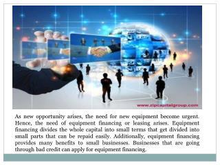 equipment financing bad credit
