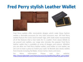 Fred Perry stylish Leather Wallet