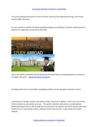 abroad education consultants in hyderabad