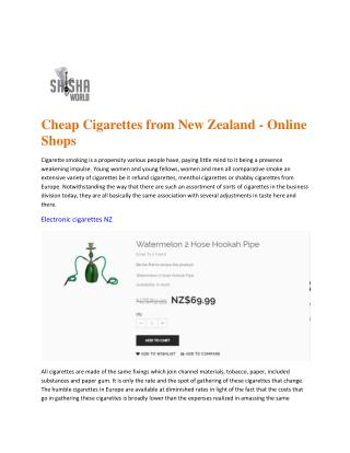 E cigarettes NZ