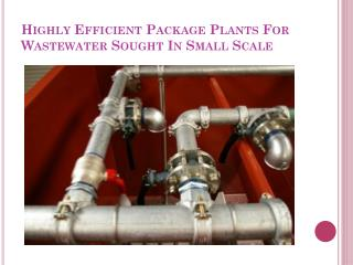 Wastewater Package Plants
