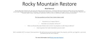 Rocky Mountain Restore - Mold Removal