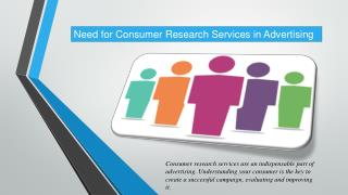 Need for Consumer Research Services in Advertising