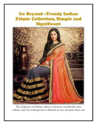 Go beyond significant indian ethnic collection Happyshoppi.com