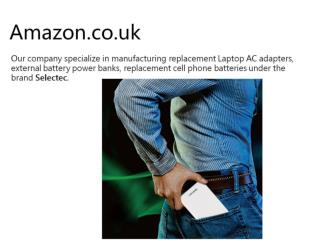 Selectec power bank series promotion on UK amazon