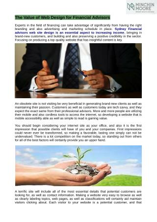 Sydney Financial Advisors is an autonomous expense just financial planning and wealth management