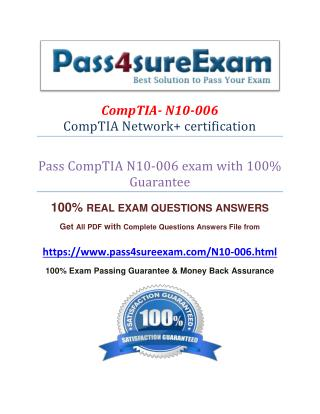 Pass4sure N10-006 Practice Exams