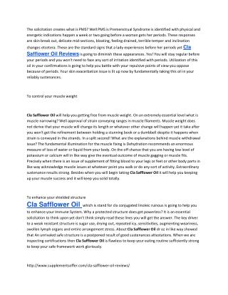 http://www.supplementsoffer.com/cla-safflower-oil-reviews/