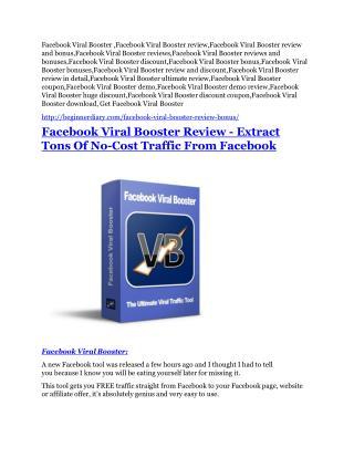 Facebook Viral Booster review & huge  100 bonus items