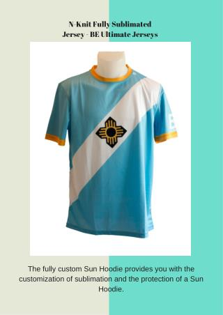 N-Knit Fully Sublimated Jersey - BE Ultimate Jerseys