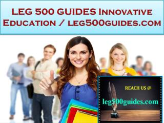 LEG 500 GUIDES Innovative Education / leg500guides.com