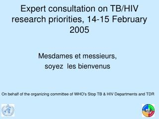 Expert consultation on TB