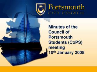 Minutes of the Council of Portsmouth Students CoPS meeting  10th January 2008