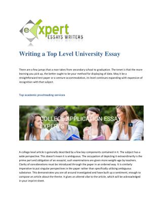 Expert dissertation writers