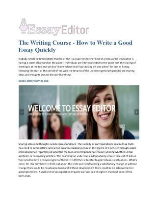 Essay editor usa