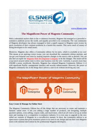 The Magnificent Power of Magento Community