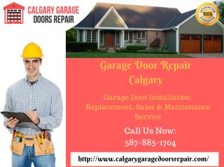 Garage Door Repair Calgary | Installation & Replacement Service