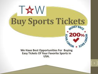 Best List For Buy Sports Tickets