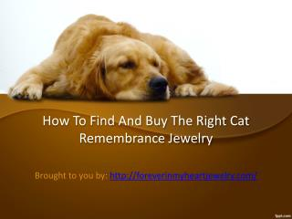 How To Find And Buy The Right Cat Remembrance Jewelry