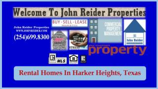 Rental Homes In Harker Heights, Texas