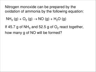 Limiting reactant prob
