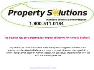 Top 9 Tips for Selecting Best Impact Windows for Home