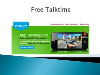 Get free talk time for your smart phone