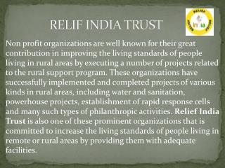 relif india trust