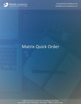 Odoo Matrix Quick Order App To Manage Multiple Order In One Click